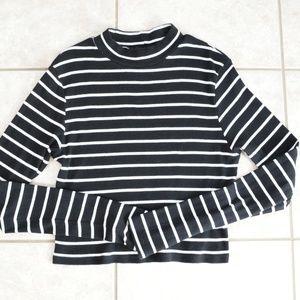 H&M Basic Striped Mockneck Sweater